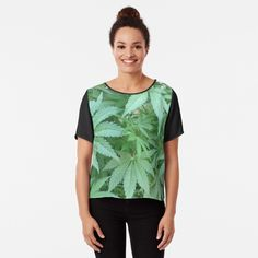 'Cordyline Tropical Palm Leaves Pattern - Green Linen' Chiffon Top by WickedRefined - Nicole Demereckis Leaf Photography, Casual Outfits, Fashion Outfits, Women's Fashion, Tank Top Dress, T Shirts For Women, Clothes For Women, Shirt Shop, Chiffon Tops