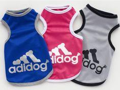 Sports dog clothes adidog shirt vest. Type:DogsBrand Name:oemMaterial:100% CottonSeason:Spring/Summerdog clothes:dog vestadidog:Yorkshire Chihuahua pet dog