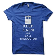 Men's Keep Calm And Call The Doctor Shirt (Royal Blue)