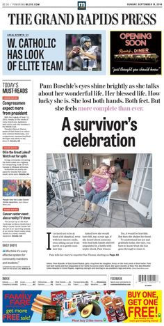 Follow up Pam Buschle article from The Grand Rapids Press.