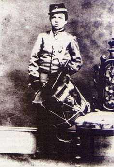 William Johnston enlisted in the 3rd Vermont Infantry December 11th 1861 at the age of 11 as a drummer boy; he would become the youngest person ever to be awarded the Medal of Honor.