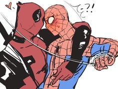 Read from the story Imágenes Spideypool/SuperFamily Y Otros CANCELADA. Deadpool Love, Deadpool X Spiderman, Deadpool Series, Marvel Fan, Marvel Heroes, Marvel Avengers, Marvel Comic Universe, Comics Universe, Spideypool Comic