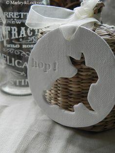 DIY Easter Ornament / Gift Tag / Decoration / Salt Dough Craft Idea / Basket