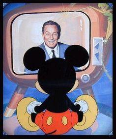 Mickey watching Walt