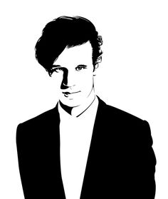Matt Smith - the second vector portrait of Dr. Who I wanted to try out a few new tricks and techniques and draw this portrait very simple and black&white only. Done in Illustrator, using the pe...
