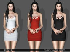 Sims 3 Clothing https://www.thesimsresource.com/downloads/details/category/sims3-clothing-female/title/strappy-front-mini-dress/id/1390581/