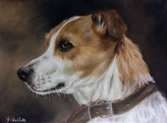 Original Jack Russell Dog Portrait Oil Painting on Stretch Canvas Jack Russell Dogs, Dog Portraits, Corgi, Oil, The Originals, Canvas, Painting, Animals, Tela