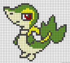 Snivy Pokemon perler bead pattern