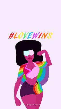lgbt+ - omg I love this so much /Steven Universe Naruto E Boruto, Wallpaper Aesthetic, Lapidot, Universe Art, Steven Universe Quotes, Gay Pride, Illustration, Geek Stuff, Tumblr