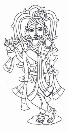 Krishna Coloring Pages Sketch Coloring Page Krishna Drawing, Krishna Painting, Krishna Art, Lord Krishna, Art Drawings For Kids, Outline Drawings, Art Drawings Sketches, Kerala Mural Painting, Indian Art Paintings
