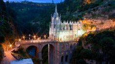 """sixpenceee: """"Las Lajas Sanctuary is a basilica church located in the southern Colombian Department of Nariño, municipality of Ipiales and built inside the canyon of the Guáitara River. The present church was built in Gothic Revival style between 1916..."""