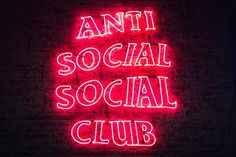 The brand anti social social club, introduces their LED sign of their well known logo. Really bright pink to contrast the dark background.