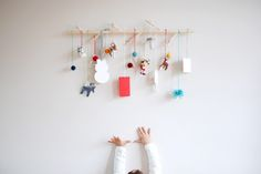 sugar lander: modern branch advent calendar (a DIY!)