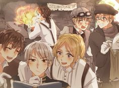 Hetalia - BTT,Portugal,England and America❤