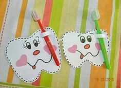 Playgroup Activities, Dental Design, Preschool Arts And Crafts, Tooth Fairy Pillow, First Tooth, School Themes, Dental Health, Kids Education, School Projects