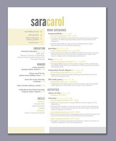 Cool Resume Templates The Cooper Resume Template Design  Graphic Design  Marketing