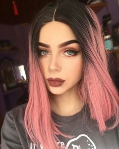 You deserve some amazing Rose Gold Hair Color for your long hair. So, regarding that, we have gathered some lovely Rose Gold Hair Color suggestions only for you. Brown Ombre Hair, Ombre Hair Color, Hair Color Balayage, Brown And Pink Hair, Two Color Hair, Long Pink Hair, Black Hair, Straight Lace Front Wigs, Front Lace