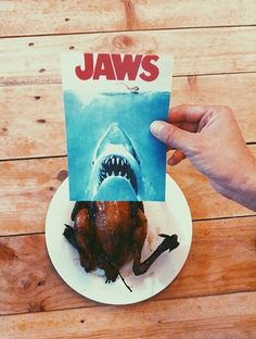 Careful, this chick bites. #jaws #chicken #foodporn - by @jaemyC