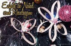 Como fazer enfeite de Natal com reciclagem: http://topartesanato.com/enfeite-de-natal-com-reciclagem/  #artesanato #handmade #recycle #reciclagem #xmas #natal