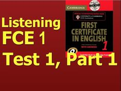 Listening B2, FCE 1, Test 1, Part 1 - YouTube Cambridge Book, Cambridge Audio, Tech Companies, English, Books, Youtube, How To Study, Languages, Libros