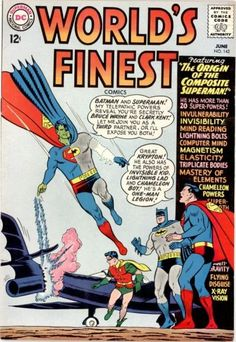 World's Finest Comics #142:  the Composite Superman--to this day, the strangest super-villain ever!