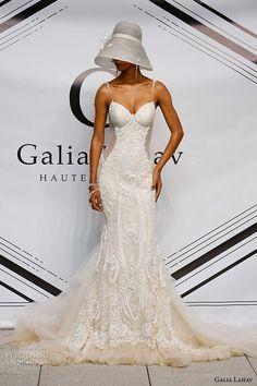 galia lahav fall 2015 bridal bustier sweetheart strap sheath fit flare low cut back wedding dress style greta garbo