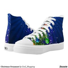 Christmas Ornament Printed Shoes