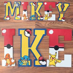 Custom wooden letters Pokemon wood letter by YouNameItByJessica ...