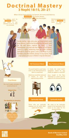 Doctrinal Mastery 3 Nephi 18:15, 20–21 Infographic by Book of Mormon Central