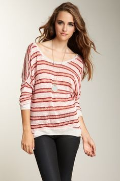 Woodleigh V-Back Cozy Top by Pop Of Color: Red Hot Essentials on @HauteLook