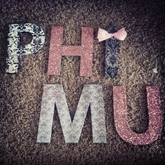 Phi Mu letters at the North Shore :)