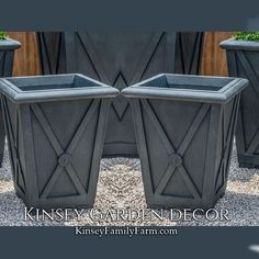 Directoire Small Square Outdoor Planters Set | Kinsey Garden Decor