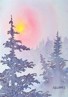 Winter Mist Painting by Teresa Ascone