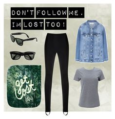 """Dont follow me, Im lost too"" by bela-carapinheiro-valimaa on Polyvore featuring moda, Simplex Apparel, MANGO, Reinaldo Lourenço, Rayban e Leah Flores"