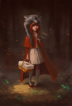 I have this idea for a costume this year, i want to do a twist on the little red ridding hood. but, I want to make a Masquerade Wolf mask to go wi Little Red Ridding Hood, Red Riding Hood, Charles Perrault, She Wolf, Big Bad Wolf, Fairytale Art, Red Hood, Conte, Native American Indians