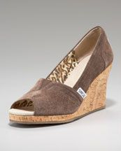 awesome TOMS chocolate wedge