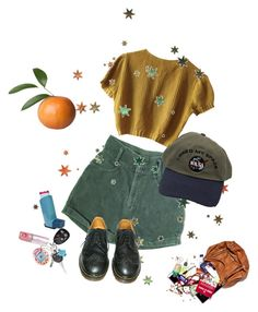 """""""yellow love"""" by paigealexandrialee on Polyvore featuring Schumacher and Dr. Martens"""