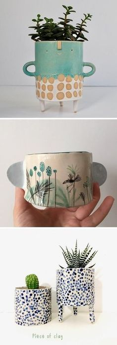 The Ceramic Gift Guide nr. 5 Ceramic Painting, Pottery Painting, Ceramic Clay, Ceramic Vase, Pottery Art, Ceramic Pottery, Sculptures Céramiques, Hand Built Pottery, Pottery Classes