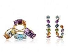 Image result for multi color gemstone earrings