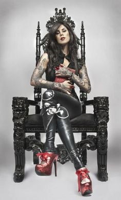Kat Von D is one of the best tattoo artists I've seen and an attractive one as well.
