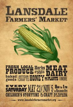 psyched for the start of farmer's market season and digging the new Lansdale Farmer's Market artwork!