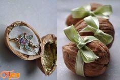 Reusing Walnut shell As Mini Gift Box step 2
