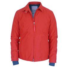 PRADA SPORT red zip-front waterproof Gortex rain coat knit cuff jacket 46/10 NEW #Prada #BasicJacket