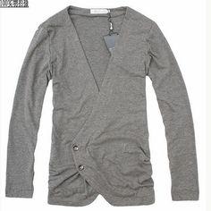 Men Fashion Long Sleeve Easy Matching Simple Grey Cotton Cardigan M/L/XL@S5-106-1-1g