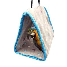 Official Website Pet Bird Soft Plush Parrot Hammock Bird Parrot Hammock Bed Toys Warm Hanging Bed Cage Pad Mat Cave Hut Tent Toys House Evident Effect Pet Products Bird Supplies