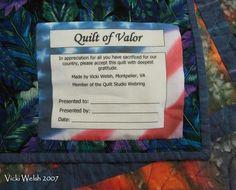 Quilt of Valor Label