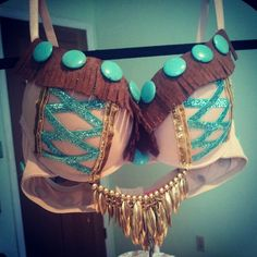 Pocahontas Indian Rave Bra