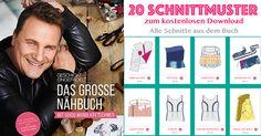 20 Schnittmuster kostenlos ❤ PDF zum ausdrucken ❤ Geschickt eingefädelt: Das große Nähbuch ❤ Alle Schnittmuster aus dem Buch ❤ ✂ Nähtalente.de ✂