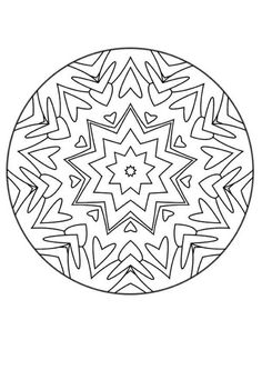 Free printable mandala coloring pages