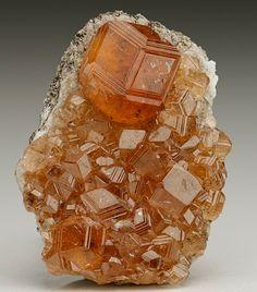 Hessonite - Jeffrey Mine, Asbestos, Richmond Co., Quebec, Canada